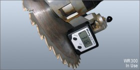 Angle Gauge in use on saw